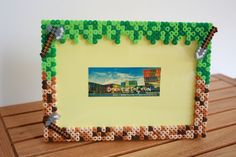 Minecraft photo frame hama perler beads by DecorarteLeon
