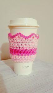 Free Crochet Pattern: Crown Coffee Cozy