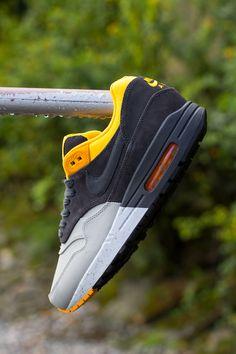 huge discount 52fd0 1d1f4 Nike Air Max 1   Pale Grey, Dark Charcoal  amp  Laser Orange Nike Sportswear