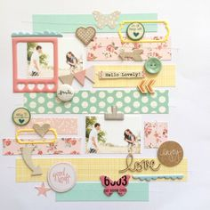#papercraft #scrapbook #layout. Smile by AshleyFowler at @studio_calico