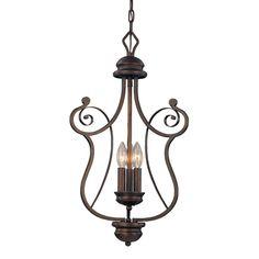 Millennium Lighting 1153-RBZ 3 Light Chateau Foyer Light Rubbed Bronze | ATG Stores