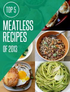 The Top 5 Meatless, Vegetarian, and Vegan Recipes of 2013