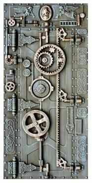 Steampunk door - this is the other door I was thinking of, Tony. Maybe we can incorporate some bicycle chain or gears into our design!