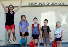 First day of school ! - funny pictures - funny photos - funny images - funny pics - funny quotes - #lol #humor #funny