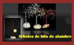 ÁRBOL DE HILO DE ALAMBRE - MANUALIDADES - http://cryptblizz.com/como-se-hace/arbol-de-hilo-de-alambre-manualidades/
