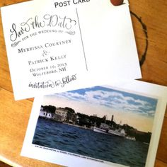 --I think this might be the final! Get Matthew and I's favorite Knoxville (or places we've been) postcards and stamp them with a personalized stamp. It really depends on the prices of the stamp.