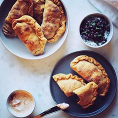 I only had 3 fresh things in the house to use for dinner last night; I definitely didn't plan meals out this week but made due with what I had. Sweet Potato Empanada dough was born! Tasty, Yummy Food, Empanadas, Sweet Potato, Meal Planning, French Toast, Potatoes, Fresh, Meals