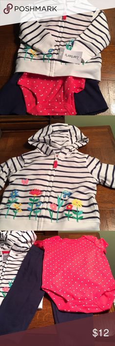 NWT 3 piece outfit NWT adorable 3piece cotton set! Great for spring! It's brand new carters Matching Sets