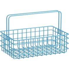 Turquoise Wire Caddy in Bath Accessories | Crate and Barrel