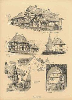 Samuel Chamberlain (1895-1975-American) - DARF - Plate 38 - Alsatian Sketches - 1928