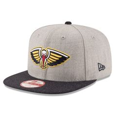 New Orleans Pelicans New Era Action Snapback Adjustable Hat - Heathered  Gray Charcoal 28886c87a64