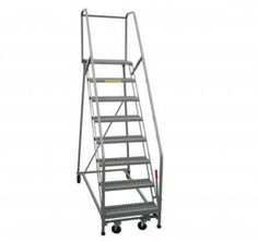 This is your standard Safety Rolling Ladder.  You can find these in the isles of Walmart.