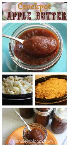 Easy Crockpot Apple Butter - Made this last night...DELICIOUS! My changes: I used much less sugar (and used brown sugar instead of regular), no allspice (didn't have it on hand), used 1/2 the nutmeg and a bit more cinnamon. I also cut up apples with peels on and just pureed after they cooked down. Turned out GREAT!
