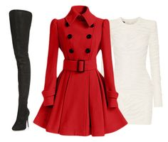 """""""For the love of red."""" by anoud-musa on Polyvore featuring Balmain, Maison Margiela, women's clothing, women, female, woman, misses and juniors"""