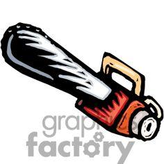 cartoon chainsaw