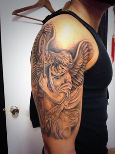 Michael the Archangel Tattoo. Amazing.