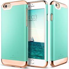iPhone 6 Case, Caseology [Savoy Series] Chrome Microfiber Slider Case [Navy Blue] [Premium Rose Gold] for Apple iPhone 6 (2014) iPhone 6S (2015) Navy Blue featuring polyvore women's fashion accessories tech accessories