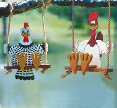 roosters and chickens painting books | Swinger Project Patterns - Swinging Rooster and Chicken Patterns