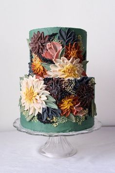 wedding cakes with flowers floral cake Pretty Cakes, Beautiful Cakes, Amazing Cakes, Cake Cookies, Cupcake Cakes, Bolo Cake, Floral Cake, Fancy Cakes, Edible Art