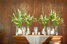 Wildflowers & candles    Photography by leilabrewsterphotography.com, Floral Design by julies4flowers.com