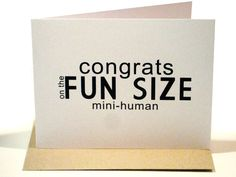 New Baby Modern Funny Greeting Card by dodelinedesign on Etsy, $3.35