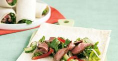 Pack a healthy lunch for school or work with these veggie full Thai beef wraps. See notes section for FODMAP diet tip.