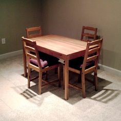 Jokkmokk table and 4 chairs antique stain ikea source for Craigslist ikea furniture