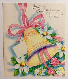 VINTAGE UNUSED GREETING CARD WEDDING