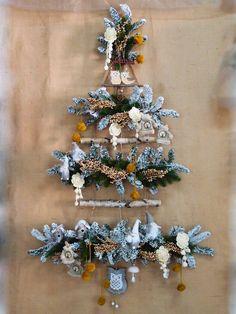 Idee creative per vetrine natalizie online fai da te. Alberi di natale particolari in stile shabby chic