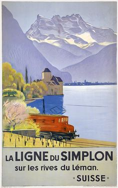 Cardinaux Emil, La ligne du Simplon sur les rives du Léman, Jahr: 1949