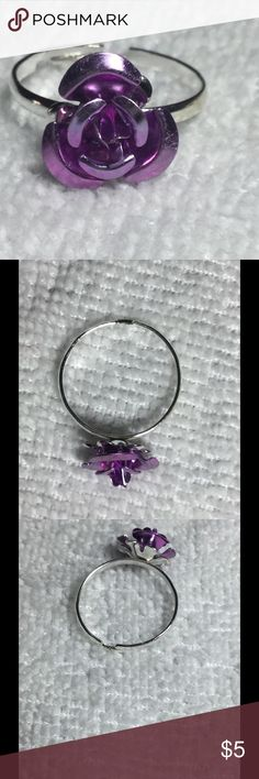 Cute Light Purple Rose Ring These little rose rings are quirky and pretty! They are adjustable, so one size fits all. These are perfect for bundling! Jewelry Rings