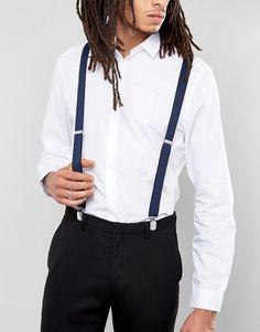 Navy wedding suspenders from ASOS! | ASOS WEDDING | Suit Accessories | Wedding Fashion | Dapper Style