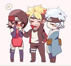Sarada, Boruto & Mitsuki ~ Team Konohamaru