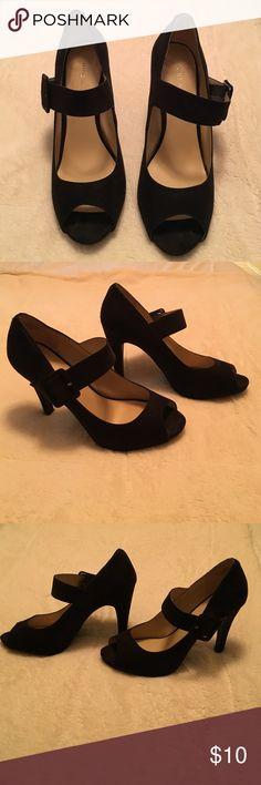 Nine West black heels, size 8 1/2 Nine West black heels, size 8 1/2, 4 inch heels Nine West Shoes Heels