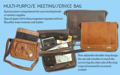 Multi-Purpose Meeting/Service Bag - Leather