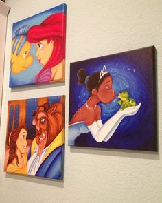 "Custom Disney canvas: 12""x12"". $50.00, via Etsy.  I LOVE the Beauty and the Beast one!!"
