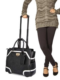 Black & White Leather Like Rolling iPad Tablet or Laptop Tote Briefcase Bag CAB,http://www.amazon.com/dp/B00G2UQYDO/ref=cm_sw_r_pi_dp_k2IGtb0Q27BR97TS