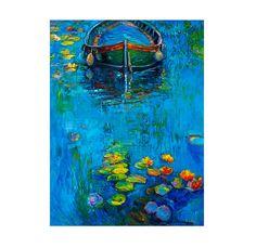 Modern impressionism Water  24x31 Original Landscape by artnikolov, $387.00