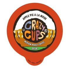 Crazy Cups Decaf Apple A La Mode Flavored Coffee Single Serve Cups (22 Count) -- New and awesome product awaits you, Read it now  : K Cups