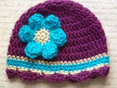 Crochet Baby HatNewborn Baby Hat Infant Baby by crochethatsbyjoyce, $14.00
