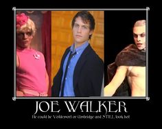 Joe Walker, able to look attractive in any costume you throw on him.