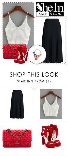 """""""shein"""" by albinnaflower ❤ liked on Polyvore featuring Canvas by Lands' End, Chanel and Jimmy Choo"""