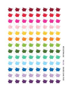 Printable Planner Stickers - Rainbow Piggy Bank Budget Stickers - Planner Labels - Fits Erin Condren, The Happy Planner, Filofax and more! by partyINK on Etsy