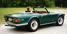 When I was approaching 16, this was the car I wanted - the Triumph TR6, in racing green - yummy!
