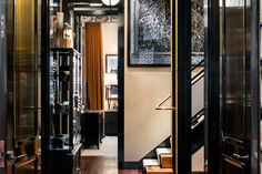 Here's The $30 Million Apartment The CEO Of J.Crew Calls Home #refinery29  http://www.refinery29.com/2016/05/109962/mickey-drexler-townhouse-for-sale#slide-2  A peek into one of the hallways shows some of the original industrial elements that were included in the new design, like the steel beams by the staircase. ...