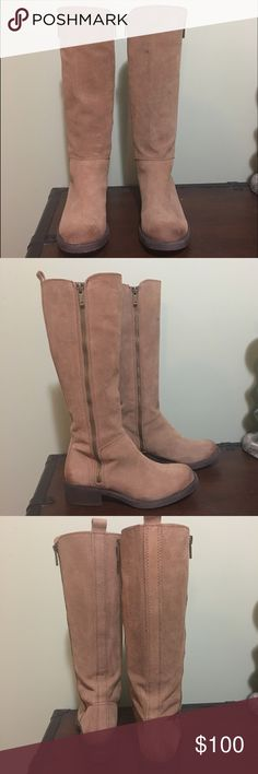 Lucky Brand boots Tall boots with zippers on the inside and outside of the calf. Size 6. Lucky Brand Shoes
