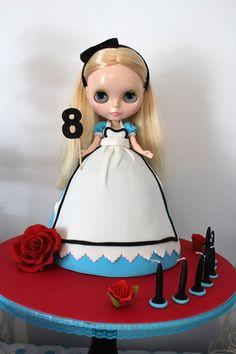 Alice in Wonderland Dolly Varden Blythe Doll Cake - Cake by Lorelei