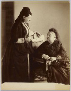 Queen Victoria with Victoria, Princess Royal when Empress Frederick, 1889 | Royal Collection Trust