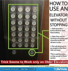 How to Get an Elevator Not to Stop on Other Floors
