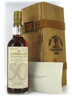 The World's Most Expensive Bottles of Scotch - The Macallan 1928: £25,000 that equals $40,257  While the liquid inside the bottle is officially 84 years old, as whiskies do not—like wine—mature once bottled, this was sealed as a 50-year old single malt whisky (eventhough it was bottled in 1983, so it's really 55-years old).